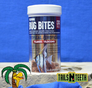 Fluval Bug Bites Tropical Flakes 45g ~ Insect Larvae High Protein Diet