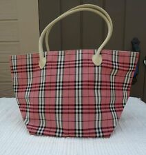 AUTHENTIC RARE BURBERRY BLUE LABEL PINK CHECK TOTE BAG GOOD CONDITION