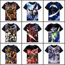 Anime Gundam Seed/Unicorn Freedom Unisex T-shirt Short Sleeve Tee Cosplay#2-R690