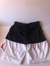 Air Jordan Shorts Boys Basketball Kids Youth - Dri Fit Mesh - White Black size L