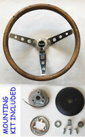 "1967 RR Barracuda Fury GTX Grant Wood Steering Wheel walnut 15"" Chrome spokes"
