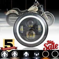 """DOT 7"""" inch LED Headlight Halo Black For Yamaha V-Star 1100 Silverado XVS1100AT"""