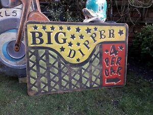 FAIRGROUND FUNFAIR SIGN BIG DIPPER  WALTZER SPEEDWAY DODGEMS BUMPERCAR TWISTER