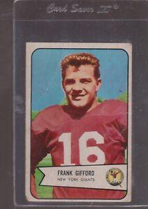 1954 BOWMAN  Football # 55 FRANK GIFFORD