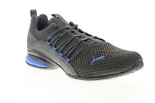 Puma Axelion Spark 19348102 Mens Gray Mesh Lace Up Athletic Running Shoes