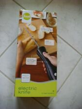 Food Network Electric Knife-Complete Set w/2 Blades,Fork and Case Open Not Used