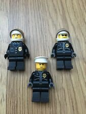 3x Lego City Police Men Man From Set 7237 Police Station As Pictured