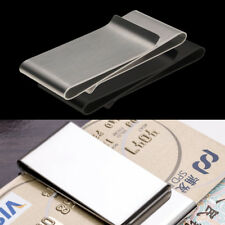 Mens Stainless Steel Metal Money Cash Note Thin Holder Clip Gift Wallet Custom