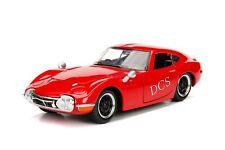 JADA 1967 TOYOTA 2000GT RED 1/24 NEW IN BOX DIECAST CAR 30447