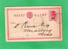 Orange Free State 1/2d Postal Stationery post card Vri Winburg Orc 1903 Ak30