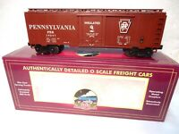 MTH Premier #20-94009 Pennsylvania Brown/White Reefer Car-O Scale--New with Box!