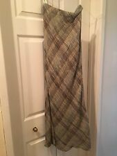 Laura Ashley Vintage 1980s Green/Brown Coloured Long Skirt  UK size 8