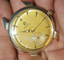 Vintage 1955 Omega 490 automatic watch Solid 14 kt gold case,1950's