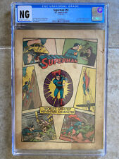 Superman #10 CGC 1941 DC Comics 1st Bald Lex Luthor Early Issue Coverless