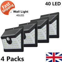 40 LED Solar Powered PIR Motion Sensor Outdoor Light Security Flood Wall Lamp UK