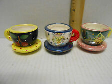 Set of 3 Mary Engelbreit Tiny Tea Cup Candle Holder for Tea Lights Me Ornaments