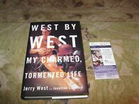 Jerry West Autographed West by West My Charmed Tormented Life Book JSA Cert