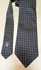 Gucci corbata tie-negro Black GG gucci logotipo - 100% silk seda-New
