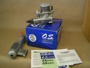 """""""NEW"""" O.S. MAX 91FX engine, 60F carb, Muffler, paperwork, decals, tools, box"""
