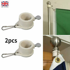 More details for 1-pair anti-wrap flag pole rotating mounting rings grommet clip attachments uk