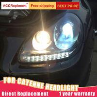 Assemblée de 2pcs pour Porsche Cayenne phares Bi-xenon lentille LED DRL