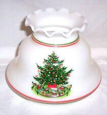 "MILK GLASS WHITE GLASS Christmas Xmas Lamp Shade Lampshade 5 7/8 "" FITTER"