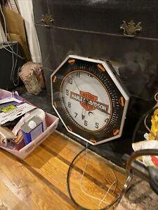 Spinner Clock Double Bubble Cleveland Neon Clock Neon  Harley Davidson Dealer