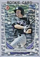 TREVOR STORY 2014 Bowman Chrome Silver Ice Parallel Rookie #TP-74  Rockies RC
