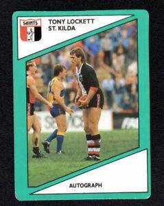 1988 AFL SCANLENS CARD  -  TONY LOCKETT - ST. KILDA
