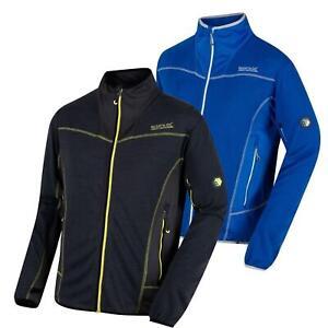 Regatta Mens Collumbus IV Fleece Jacket Zip Up Knit Effect Warm Outdoor Coat