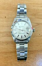 ROLEX ♛ OYSTER PERPETUAL DATE 1500 WIDE BOY SIGMA DIAL STAINLESS MENS WATCH
