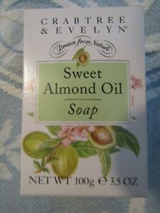 Crabtree And Evelyn Almond Oil Bar Soap 3.5 Ounce NIB