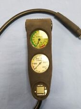 Vintage Sherwood PSI and Depth Gauge Console