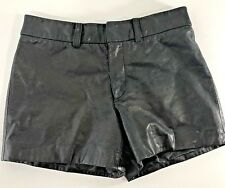 "Gianni Bini Black Leather  Shorts Size X-Small  29"" waist lined"