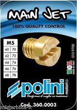 Coffret Boite 10 Gicleurs POLINI Ø 5 mm de 60 à 78 DELLORTO PHBG SHA 10 Gicleurs