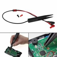 SMT SMD Chip Resistance Test Clip Lead Probe Multimeter Meter Capacitor Tweezer