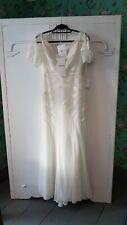 Cymbeline Paris, Ginette: Beautiful Boho Wedding Dress, 42, Champagne White