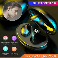 TWS Mini Earbuds Wireless Bluetooth 5.0 Headset Earphones Stereo Dual Headphone