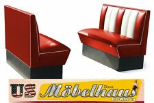 2xHW120 American Furniture Diner Bench Seating USA Style Catering
