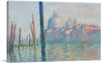 ARTCANVAS The Grand Canal Canvas Art Print by Claude Monet