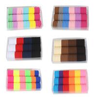 Eg _66X Bambini Color Caramella Fascia Elastica per Capelli Corda Anello
