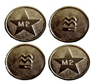 100x New M2 Silver Sunbed Tokens Compatible with L2 Tanning Token Meter machine