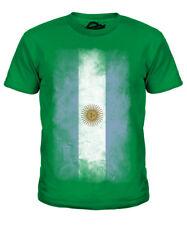 Argentina Descolorido Bandera Infantil Camiseta Top