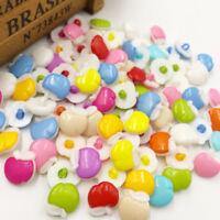 50/100pcs 14mm  Plastic Button backhole Crafts Mix PT54