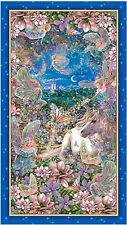 DREAMLAND UNICORNS & FAIRIES DIGITAL QUILT PANEL * MOST POPULAR * FREE POST *