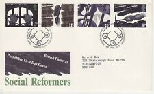 GB Stamps First Day Cover Social Reformers, coal, prison, chimney SHS chain 1976