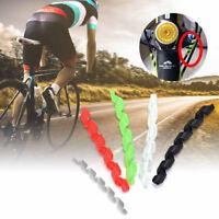 Ee _ Eg _ 5Pcs Espiral Suave Tpr Exterior Cable Bicicleta Marco Protectores