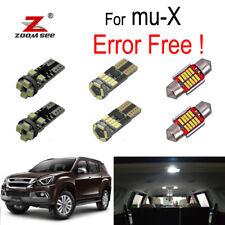 7pc LED Bulb interior dome lamp Reading light kit for Isuzu mu-X mux (13-19)