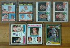 Johnny Bench 7 card topps lot/Reds