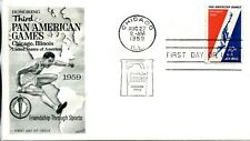 1959 AIR MAIL 10 CENT 3RD PAN AMERICAN GAMES FLEETWOOD CACHET UNADDRESSED FDC
